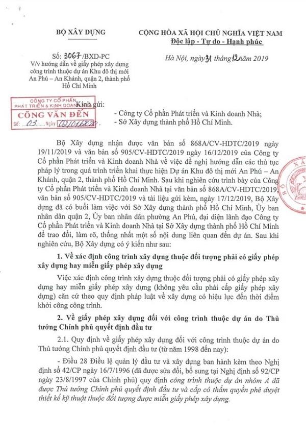 go vuong cho du an khu do thi an phu an khanh