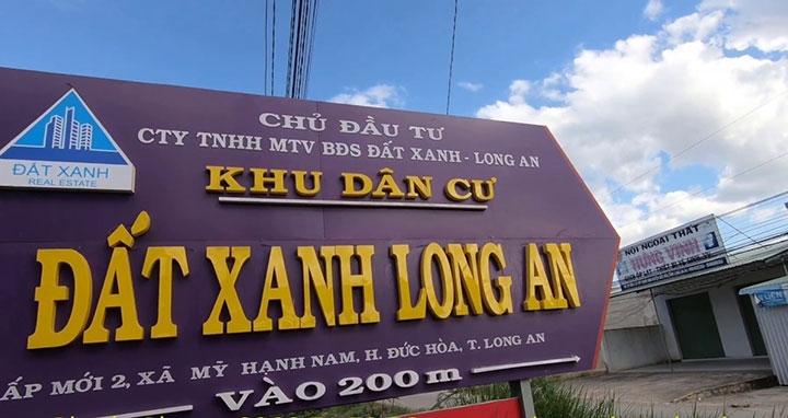 dat xanh long an bi chuyen ho so sang co quan dieu tra khong phai cong ty cua tap doan dat xanh
